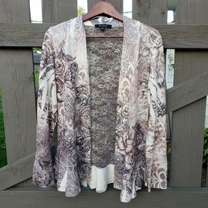 B.L.E.U. Jacket with Accents of Lace Size L